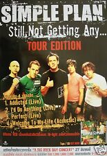"SIMPLE PLAN ""STILL NOT GETTING ANY - TOUR EDITION"" THAILAND PROMO POSTER"