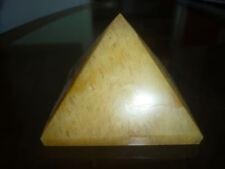 cristalloterapia PIRAMIDE GRANDE QUARZO ORO minerale piramidoterapia feng shui