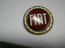 FIAT 124 SPIDER HOOD/DECK BADGE-NEW, REPLICA, RED WITH WHITE LETTERS