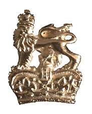 Royal Coat of Arms Handmade From English Pewter Lapel Pin Badge (WA)