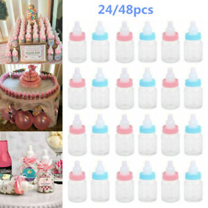 24x Fillable Bottles Baby Shower Favor Candy Bottle Party Table Boy Girl AU~