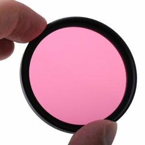 49/52/55/58/62/67/72/77mm Full Pink Color Conversion Lens Filter For Camera Lens