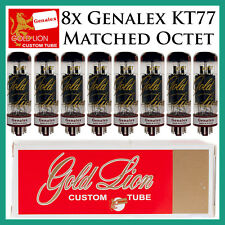 New 8x Genalex Gold Lion KT77 | Matched Octet / Eight Tubes