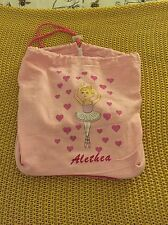 Ballet Bag Personalised Alethea Used Once Pink Dance