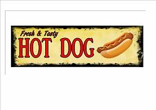 American Retro Style Diner Sign Cafe Sign Hot Dogs Retro Sign Kitchen Sign
