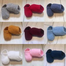 baby shower gift Handmade baby booties shoes bnwt white 0-3 months christening