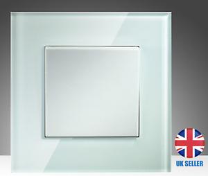 1Gang 2Way Wallpad Luxury Crystal Glass Button Light Switch