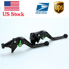 Short green Brake Clutch Levers For Kawasaki ninja 650R/er6f Z650 Z900 2017