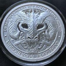 Destiny Knight Dragon of Death 2 oz .999 Silver BU Round Knights Templar Coin