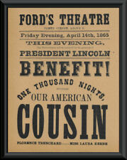 Our American Cousin Poster Reprint On Original Period 1860s Paper *P020
