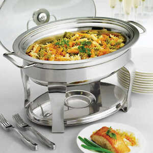 Tramontina 4.2-quart Chafing Dish Stainless Steel NEW