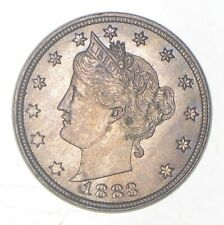 Gem BU - Unc - 1883 Liberty V Nickel - Without Cents - First Year Issue
