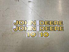 John Deere 10 Backhoe Decals