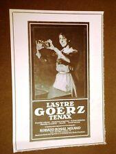 Pubblicità d'epoca dei primi del '900 Lastre per macchine fotografiche Goerz