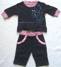 Baby Set Mädchen Pullover Hose Winnie Puuh dunkelblau rosa Gr. 56 - 3 Monate