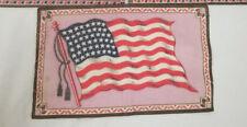 "Vintage American Flag Cigar Box Felt Flag 8.5"" X 5.5"""