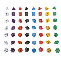 Pearl Multi sided dice sets of 7 D4 D6 D8 D10 D12 D20 Dungeons D&D RPG Warhammer
