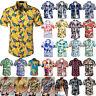 Men Hawaiian T-Shirt Short Sleeve Summer Beach Casual Holiday Shirt Tops Blouse