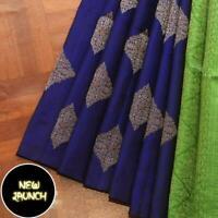 Kanchipuram Silk Saree Indian Bollywood Sari Designer Blouse Wedding Ethnic KP