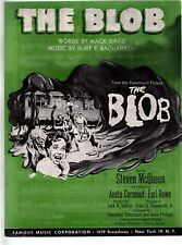 The Blob 1958 Steve McQueen in his first starring role Sheet Music