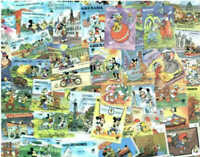 Disney - HIgh Quality Stamp Collection of 350 Different Stamps