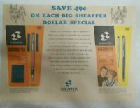 Sheaffer's Skrip Ink Ad:  Sheaffer's Dollar Special 1966 Size: 11 x 15 inches