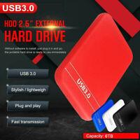 2.5''  6TB External Hard Disk Drive USB 3.0 Data Transfer HDD Box Case Red
