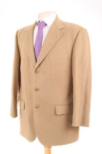 CARLO VISCONTTI MEN'S BEIGE 100% BRUSHED COTTON SUIT 40S DRY-CLEANED