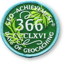 366 DAYS OF GEOCACHING GEO-ACHIEVEMENT EMBROIDERED PATCH