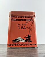 Vintage Grandmother's Atlantic & Pacific Mixed Tea Tin With Lid,Orange 1/4 Pound