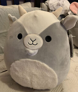 """12"""" WALKER THE GOAT SQUISHMALLOW *RARE* FLUFFY BELLY & BEARD EASTER COLLECTION"""