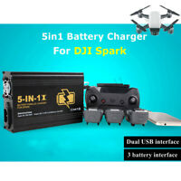 5-in-1 Intelligent Battery Charging Remote Control Charger USB Port F/ DJI Spark