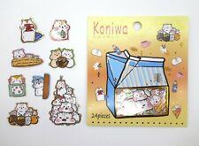 Japanese hamster sticker flakes! Kawaii mochi animal planner sticker flakes cute
