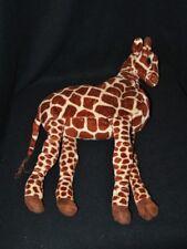 Peluche doudou girafe IKEA Klapper beige brun yeux brodés 45 cm TTBE