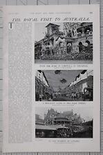 1901 PRINT ROYAL VISIT AUSTRALIA DUKE OF CORNWALL SINGAPORE GUARD MUNICIPAL