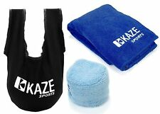 KAZE SPORTS Bowling Ball Accessory Gift Set SeeSaw Grip Sack Microfiber Towel