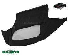Mazda Miata Convertible Soft Top & Plastic Window 1990-2005 Black Cabrio Haartz