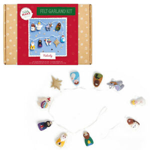 Nativity Felt Garland Sewing Kit | Adult Christmas Kit