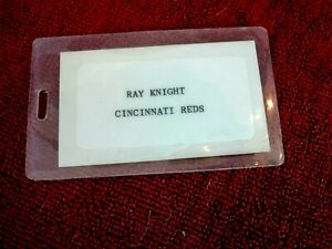 RAY KNIGHT original 1980's Reds Alleghenny Air Traveling Suitcase Luggage Tag