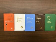 Lot of 5 Mixed Small Pocket Size Gideons BIBLES Psalms Proverbs New Testament