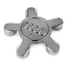 4 Cache Moyeu Centre de Roue Audi 135mm 5 Branche Gris A3 A4 A5 A6 A7 A8 Q5 Q7