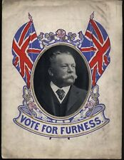 More details for 1900-1910 vote for furness - political coloured window card