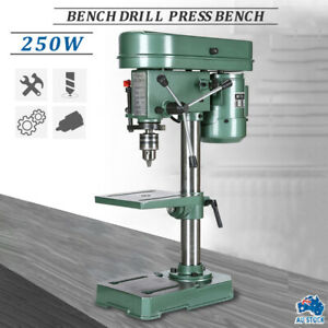 5 Speed Electric Bench Drill Press Workshop Mounted Table Stand Base 250W AU