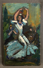 Flamenco Dancer, oil on panel signed Jean Toth (1899-1997)