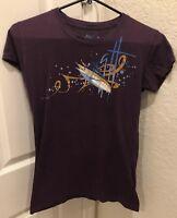 Youth Girls Guy Harvey Purple Graphic Short Sleeve T-Shirt Size L Large