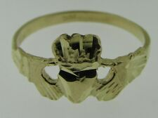 10k Yellow Gold Womens girls Irish Claddagh Ring 1.6 grams size 7.5