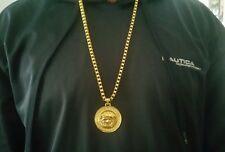 Versace Medusa Pendant Medallion Charm Chain