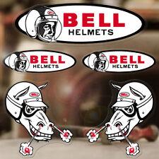 5x pieces Bell sticker decal hot rod old school helmet vintage racing
