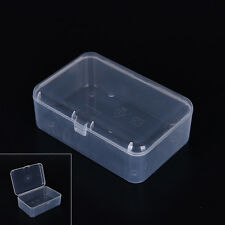 New Small Transparent Plastic Storage Box clear Square Multipurpose display IF2