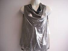 VINTAGE Lucie Ann II Silver & Gold Metallic Shirt -  Top Size 42